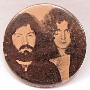 "rare 1970's LED ZEPPELIN John Bonham & Robert Plant 3"" PHOTO pinback button"