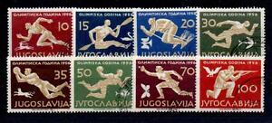 YUGOSLAVIA SG835/42 1956 OLYMPICS USED
