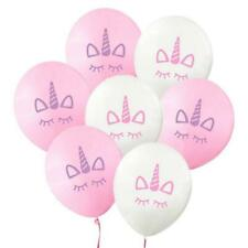 10pcs Unicorn 10 Latex Balloons Birthday Party Decorations Girls Magical Pink For Sale Online Ebay