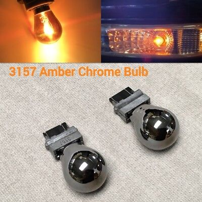 Front Signal Light T25 3057 3157 4157 Amber Silver Chrome Bulb for Dodge.1