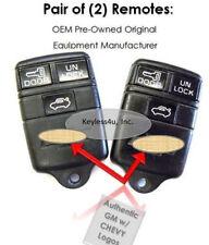 Set 2:10239647 keyfob transmitter PHOB keyless remote entry opener Chevrolet fab