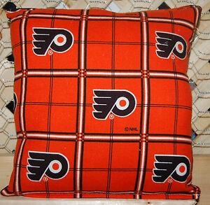 Flyers-Pillow-NHL-Pillow-Philly-Pillow-Hockey-Pillow-Handmade-In-USA-New