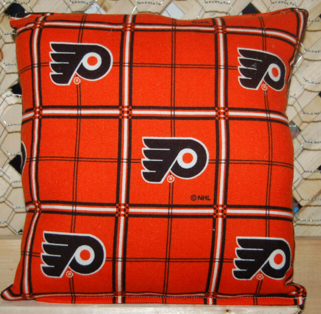 Flyers Pillow NHL Pillow Philly Pillow Hockey Pillow Handmade In USA New