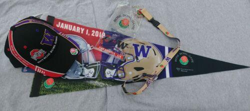 Hat Pack 2019 Rose Bowl Ohio State Vs Washington Huskies Pennant Lanyard