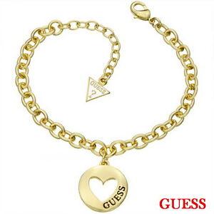GUESS-Damen-Armband-Armkette-Schmuck-Edelstahl-Gold-Strass-UBB51435