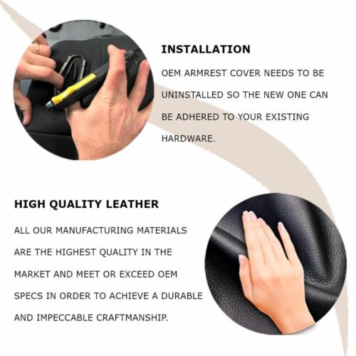 Center Console Armrest Leather Synthetic Cover for Acura TL 04-08 Black
