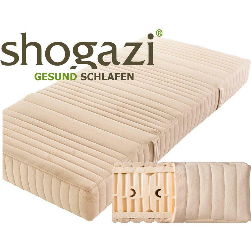 Matratze 26 cm Höhe 100% Naturlatex 7-Zonen Royal Mellow Shogazi Latexmatratze