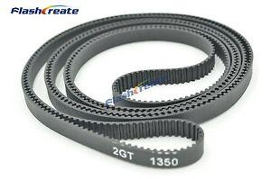 GT2 synchronous Belt L=1000 1140 1220 1350 1360 1524 2GT Timing Belt closed loop
