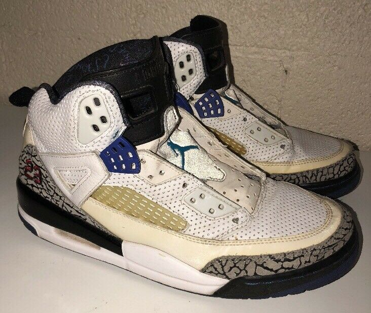Nike Air Jordan Spizike, 315371-102, White, Aqua, Grape, Purple, Men's Size 9.5