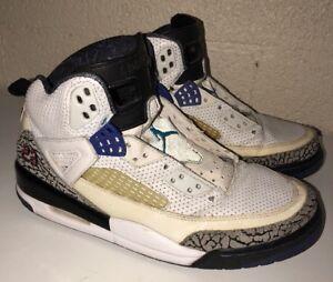 ccd8e461fdfb Nike Air Jordan Spizike, 315371-102, White, Aqua, Grape, Purple ...