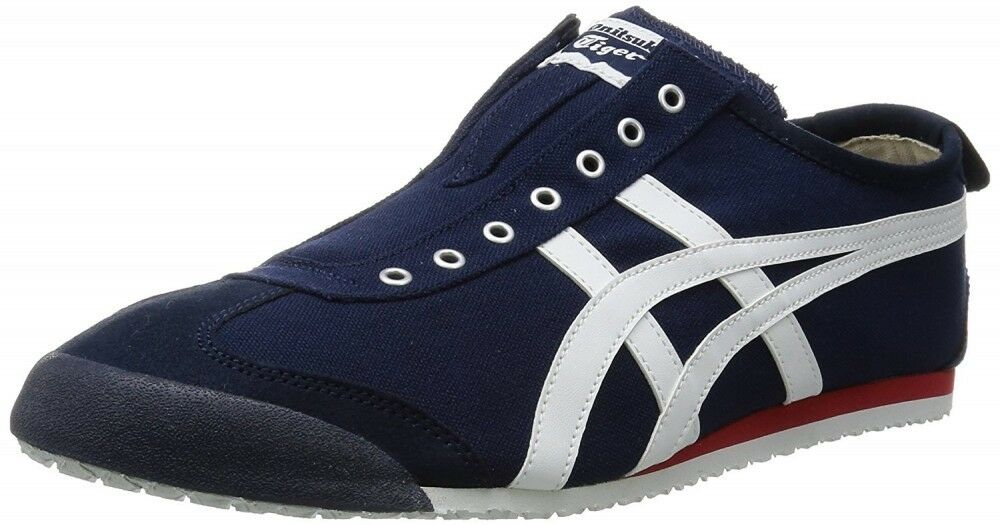Asics Japan Onitsuka Tiger MEXICO 66 SLIP-ON TH3K0N Navy X off-white F S