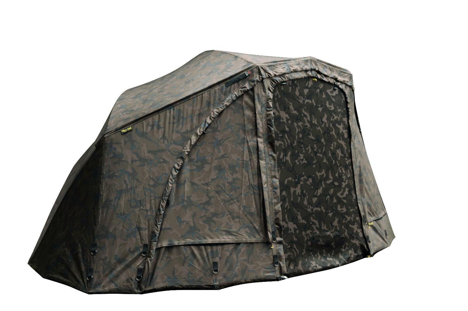 Fox Ultra 60 Camo Brolly System Ventec Schirmzelt komplett Schirm Karpfenangeln
