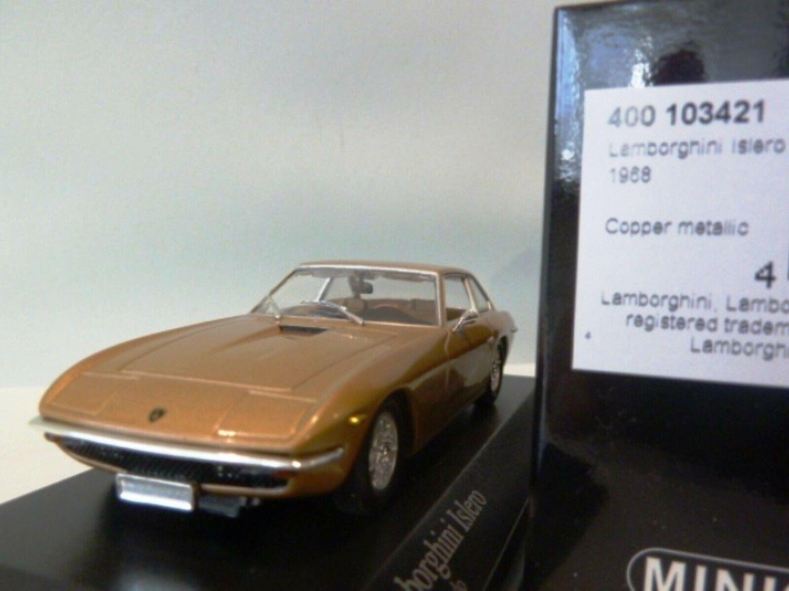 WOW EXTREMELY RARE Lamborghini Islero 2+2 1968 gold m 1 43 Minichamps-Espada GT