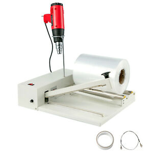 12-034-Shrink-Wrap-450W-Sealing-Machine-I-bar-Sealer-1800W-Heat-Gun-558-Feet-Film