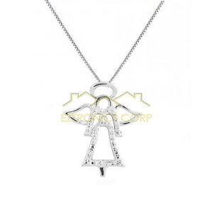 925 silver angel necklace 18 women jewelry fashion pendants gift image is loading 925 silver angel necklace 18 034 women jewelry aloadofball