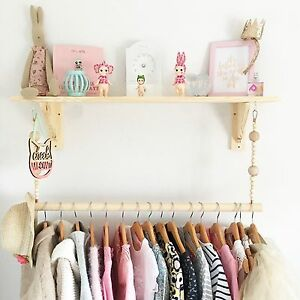 Image Is Loading 60cm Childrens Bedroom Nursery Clothes Rail Rack