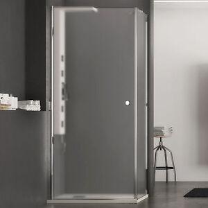 Box doccia 60x80 battente cristallo opaco altezza 190 reversibile ...