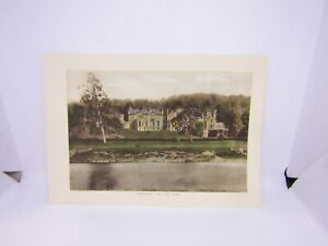 Old-antique-colour-print-Abbotsford-from-the-tweed-Scotland-27-x-19-cm