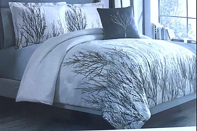 Neuf avec étiquettes Avangard contemporain Velours Métallique Branche moderne lit queen Set 480