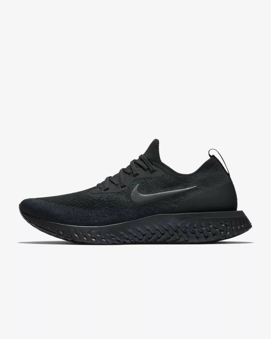 NEW Nike Epic React Flyknit Triple Black AQ0067-003 Men's Size 6-15