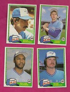 4-X-1981-TOPPS-TORONTO-BLUE-JAYS-INCL-AINGE-ROOKIE-NRMT-CARD-INV-A811