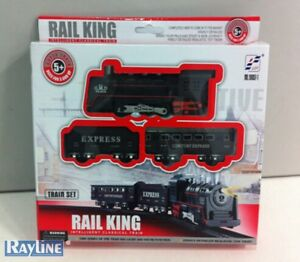 Railway-Set-Train-Set-Battery-Rail-King-Light-Sound-Toy