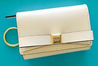 NWT KATE SPADE Montford Park Darla Bow Cream Leather Key ID Coin Purse Wallet