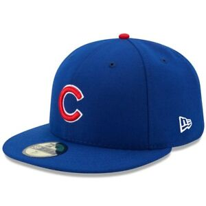 0a5e9bc2178 CHICAGO CUBS HOME BLUE New Era 5950 MLB Cap Fitted On Field Game Hat ...