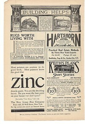 Hearty 1914 Hartshorn Shade Rollers & New Jersey Zinc Company Advertisements Advertising-print