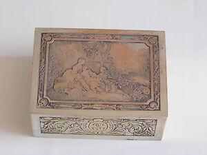 Coffret A Bijoux Métal Argente 19 Eme Antique Estampillees Bwicker
