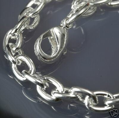 """Sturdy Silver Plated CHAIN NECKLACE w//3.5x5mm Links ~ 18/"""""""