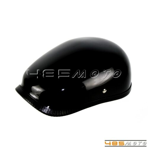 Glossy Black Half Face Vintage Motorcycle Helmet Fiberglass Shell Novelty Helmet