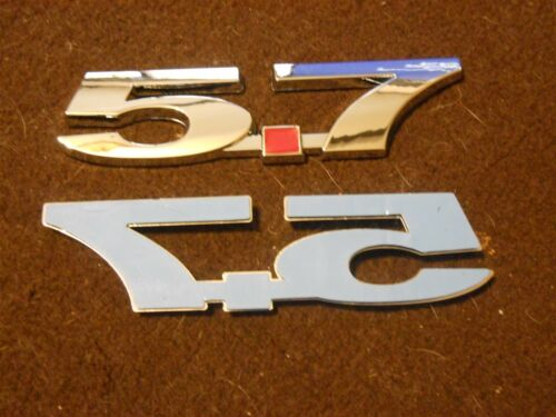 CHEVROLET CAMARO CORVETTE VORTEC 5.7L 5.7 350 FENDER TRUNK EMBLEMS CHROME NEW PR
