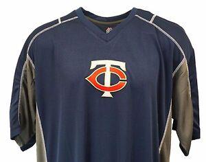 Minnesota-Twins-MLB-Majesctic-V-Neck-Jersey-T-Shirt-Mens-Big-amp-Tall-nwt