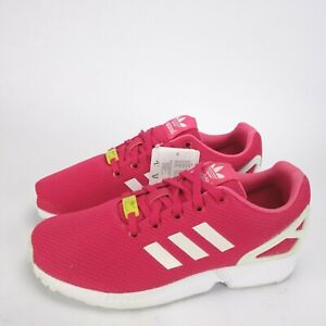 Details about Adidas Originals ZX Flux Kids Junior Trainers Shoes Casual  Pink White UK 6
