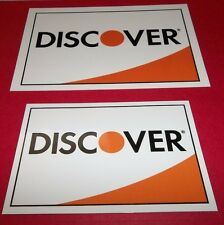 Discover Credit Card Stickers Decals 1 Large 1 Medium 2 Sided FREE SHIPPING