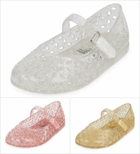NWT The Childrens Place Toddler Girls Glitter Jelly Mary Jane Flats Shoes