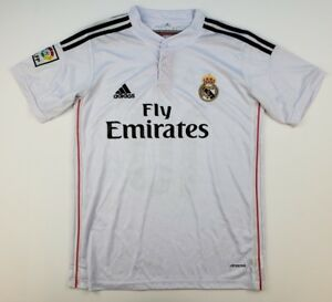 96a4678615a Adidas Men's Large Real Madrid James Rodriguez #10 Fly Emirates ...