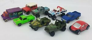 Lot-of-9-Misc-Toy-Cars-Matchbox-Hot-Wheels-Other