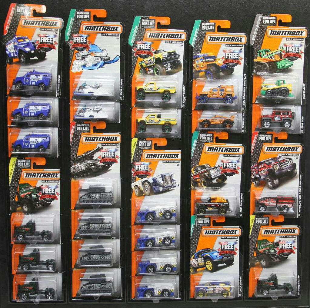 2014 MATCHBOX ON A MISSION LOT OF 26 ASSORTED DIECAST CARS 1 64 NEW