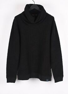 NEW-Scotch-amp-Soda-Turtle-Neck-Men-Warm-Black-Sweater-Size-2XL