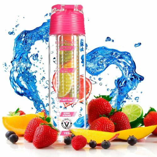 Fruit Infuser Water Bottle 24 Oz Tracker Graphics on Bottle