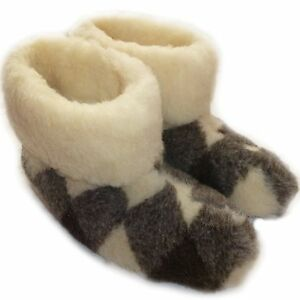 Cozy foot womens ladies mens pure sheep wool fleece sheepskin slipper