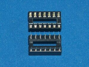 IC VERSION/IC socket, 14 pole, double spring contact, 20 Piece