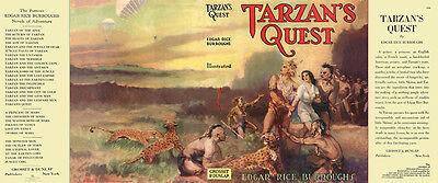 Grosset & Dunlap Reichhaltiges Angebot Und Schnelle Lieferung Neue Mode Edgar Rice Burroughs Tarzan's Quest Faksimile umschlag 1