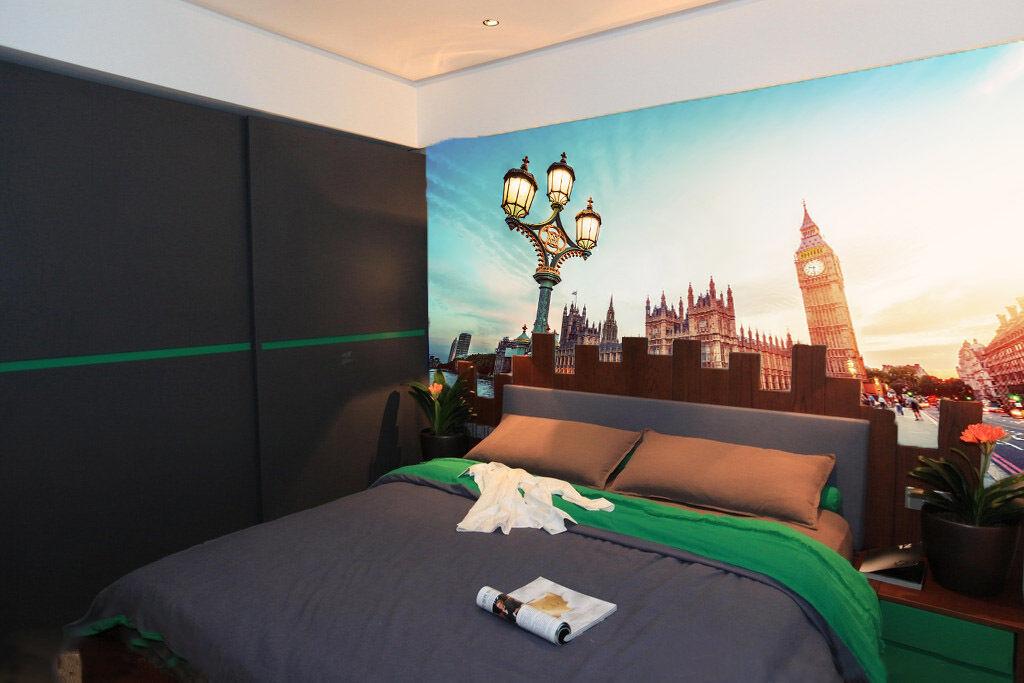 3D UK Big Ben 1 WallPaper Murals Wall Print Decal Wall Deco AJ WALLPAPER
