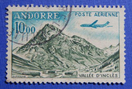 1964 ANDORRA FRENCH 10Fr SCOTT# C8 MICHEL # 185 USED CS29124