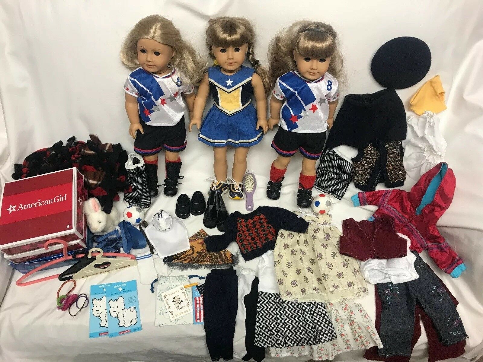 Lote de muñecas American Girl agradable compañía, ropa y accesorios usados