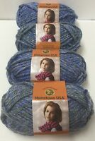 Lot Of Lion Brand Yarn 211 Jersey Gardens Blue Hometown Usa Super Bulky