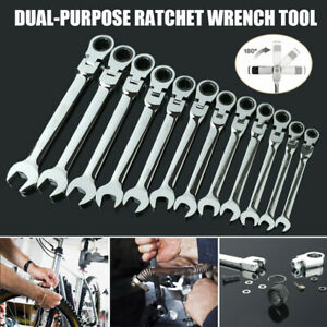 8-30mm-Ratchet-Gear-Spanner-Chrome-Vanadium-Wrench-Spanner-Fixed